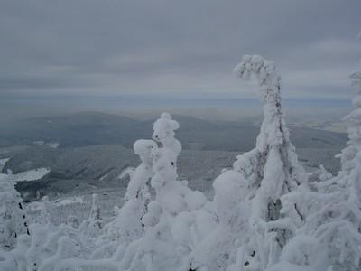 pohled na Jizerské hory z Ještědu